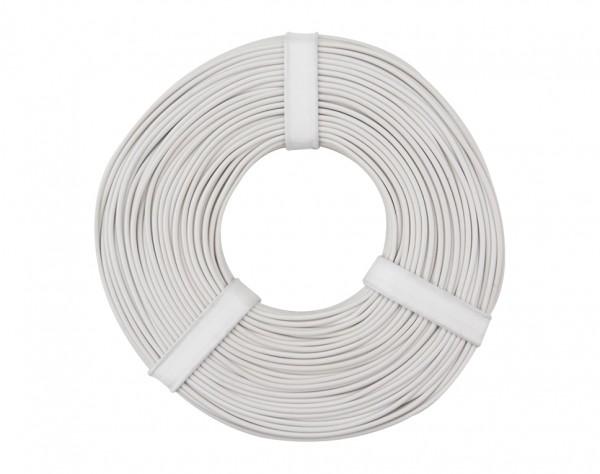 125-055 - Kupferschalt Litze 0,25 mm² / 50 m / weiss