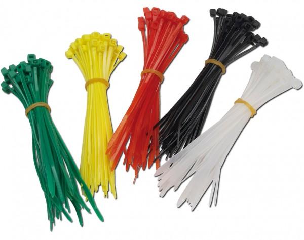E200 - Kabelbinder 200 Stück in 5 Farben