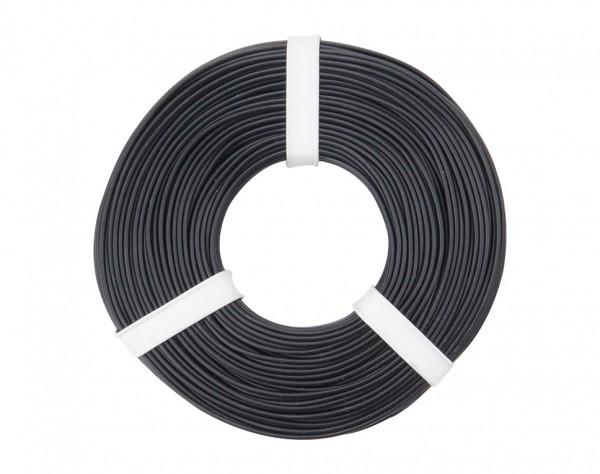 125-051 - Kupferschalt Litze 0,25 mm² / 50 m / schwarz