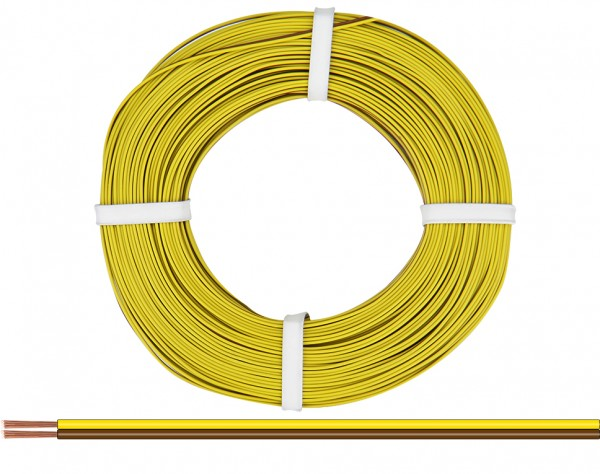 225-380 - Zwillingslitze 0,25 mm² / 50 m gelb-braun