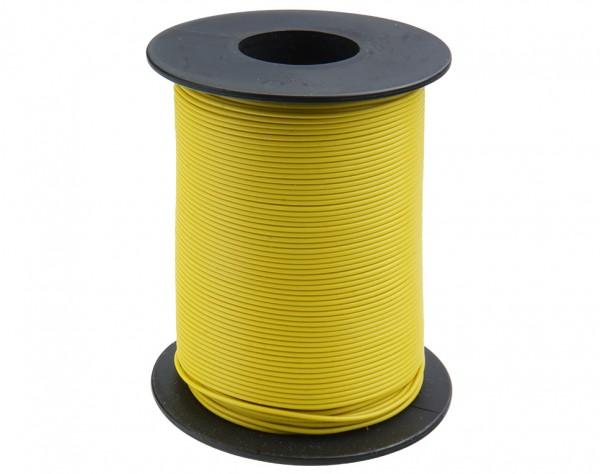 105-3-100 - Kupferschalt Draht 0,5 mm / 100 m gelb