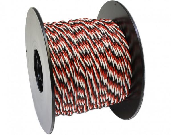 325F - PVC Kabel 3-adrig 100m für Futaba