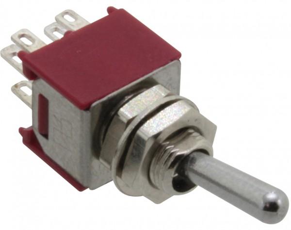 SKS242A - Miniatur Kippschalter, 2-pol., Umschalter, ON-ON