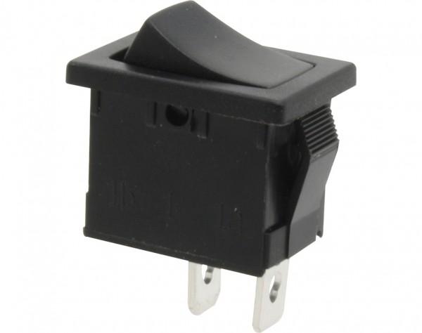 KWS11 - Schalter tastend, 1-polig, schwarz, OFF-(ON)