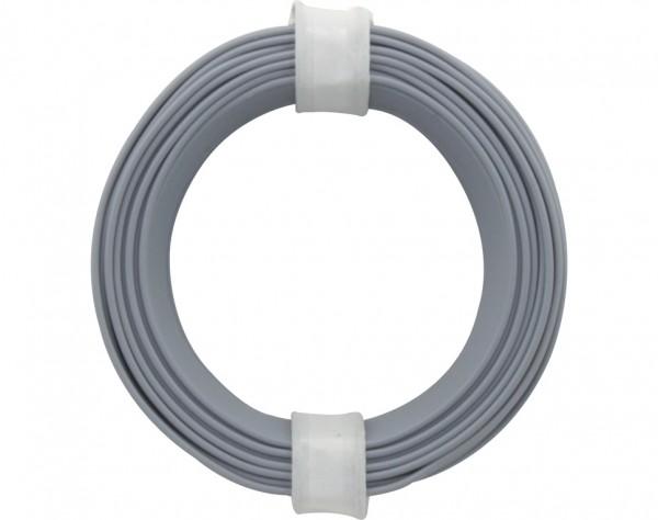 118-9 - Kupferschalt Litze 0,14 mm² / 10 m / grau