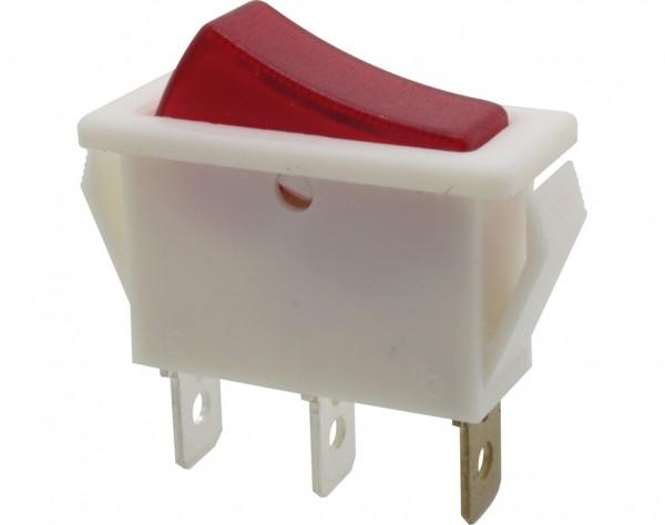 KWS210 - Ausschalter, 1-polig, weiß, rot beleuchtet, ON-OFF