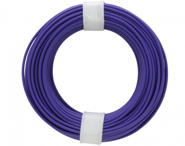 118-6 - Kupferschalt Litze 0,14 mm² / 10 m / violett