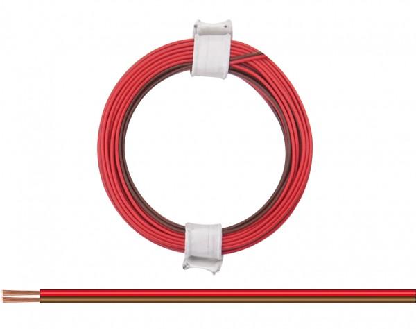 114-08 - Zwillingslitze 0,08 mm² / 5 m rot-braun