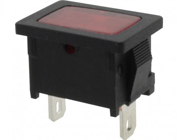 KSL30 - Klein Signallampe, 1-polig, schwarz, rot beleuchtet