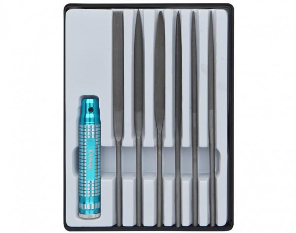 M60 - Profiline Nadelfeilen Set 7-tlg. mit Metallhalter