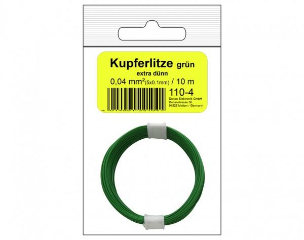 110-4SB - Kupferschalt Litze grün - extra dünn in SB Beutel