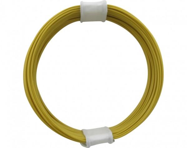 110-3 - Kupferschalt Litze 0,04 mm² / 10 m gelb