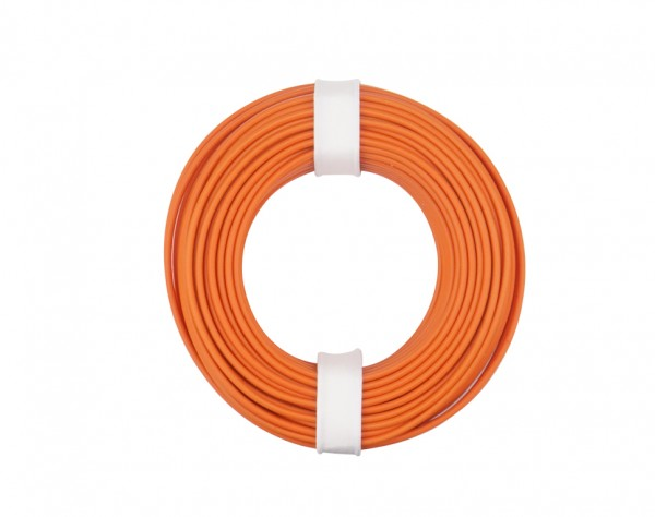 125-017 - Kupferschalt Litze 0,25 mm² / 10 m / orange