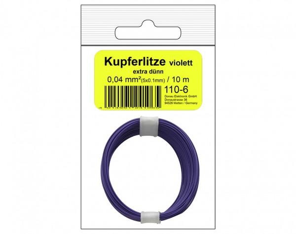 110-6SB - Kupferschalt Litze 0,04 mm² / 10 m violett - in SB Beutel