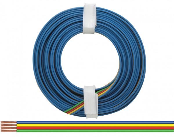 418-5 - Vierlingslitze 0,14 mm² / 5 m blau - gelb - rot - grün