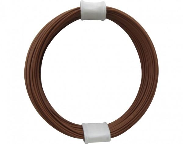 110-8 - Kupferschalt Litze 0,04 mm² / 10 m braun