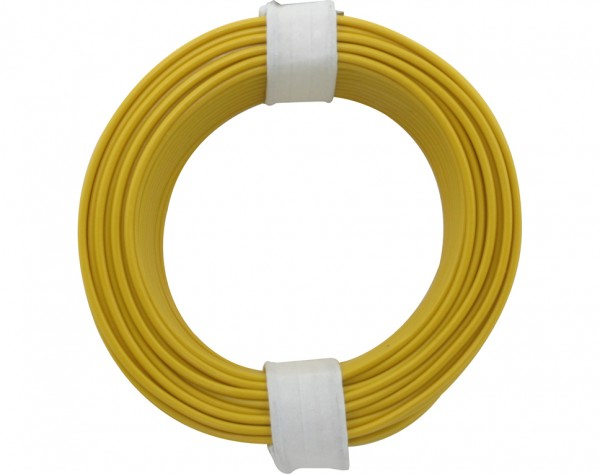 118-3 - Kupferschalt Litze 0,14 mm² / 10 m / gelb