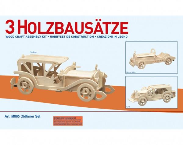 M865 - Holzbausatz 3 x Oldtimer