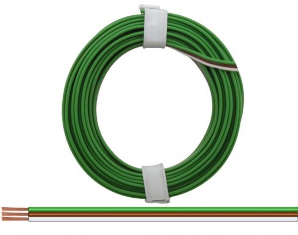 318-5 - Drillingslitze 0,14 mm² / 5 m grün - braun - weiss