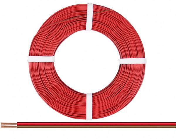225-080-25 - Zwillingslitze 0,25 mm² / 25 m rot-braun