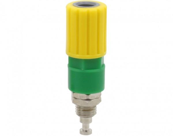 3256 - Polklemme 4mm gelb-grün