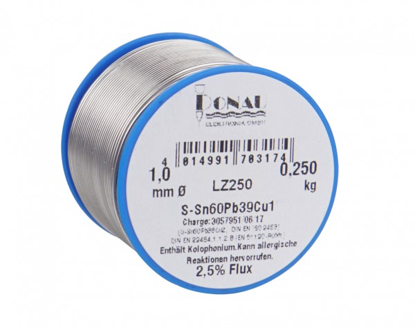 LZ250 - Lötzinn Ø 1 mm, Spule 250 g