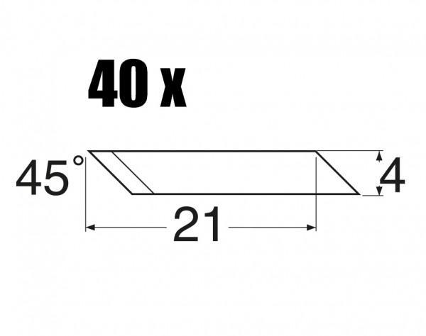 MS45 - Ersatzklingen 45° abgewinkelt - 40 St.