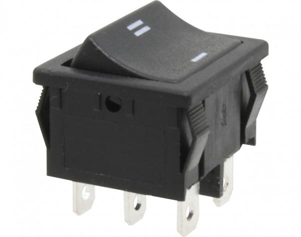 KWS60 - Umschalter, 2-polig, schwarz, ON-ON