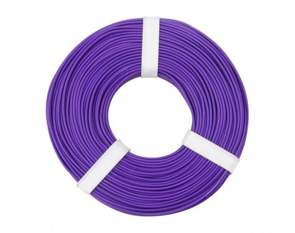 125-056 - Kupferschalt Litze 0,25 mm² / 50 m / violett